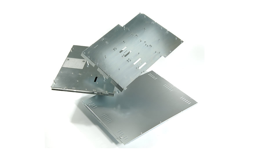 Cold rolled steel panels, zinc plated with PEM fasteners installed